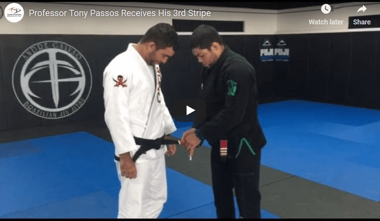 Professor Tony Passos Receives 3rd Stripe